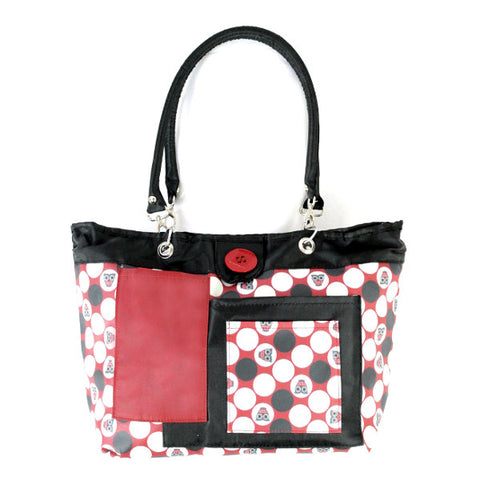 2 Red Hens Rooster Diaper Bag - Owl Dots