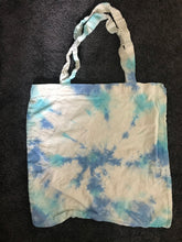 Load image into Gallery viewer, Handmade tie dyed tote bag