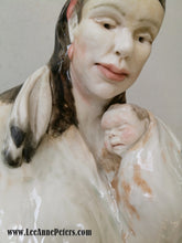 Load image into Gallery viewer, Sculpture - Native lady holding baby