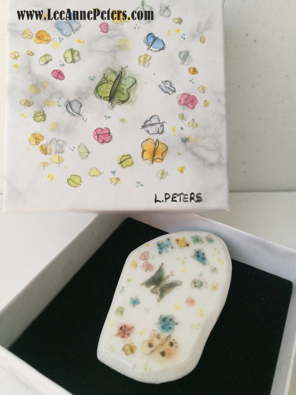 Brooch in gift box