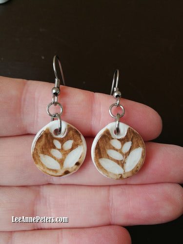 Earrings - hook style - plant