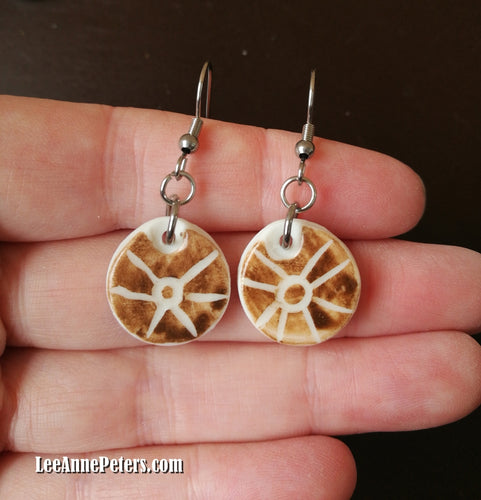 Earrings - hook style - sun
