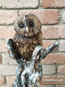 Sculpture - Barn owl in tree (local pick up only)