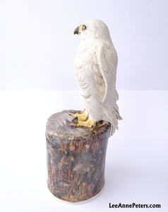 White Goshawk Sculpture