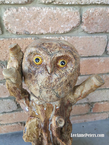 Large Sculpture - Owl in tree (local pick up only)