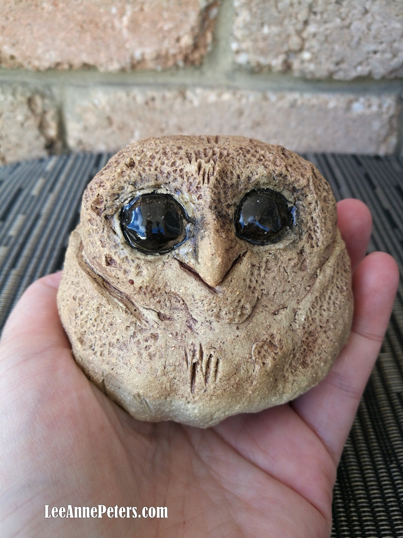 Baby Owl - sculpture