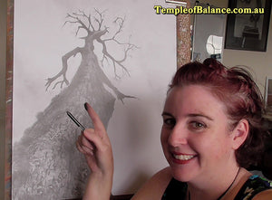 ART TUTORIAL - step by step tree drawing