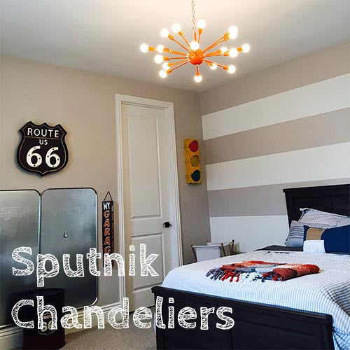 Sputnik Chandeliers, Sconces, and Flush Mounts
