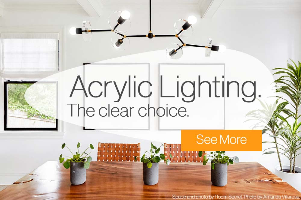 Acrylic Lighting Collection By Dutton Brown.
