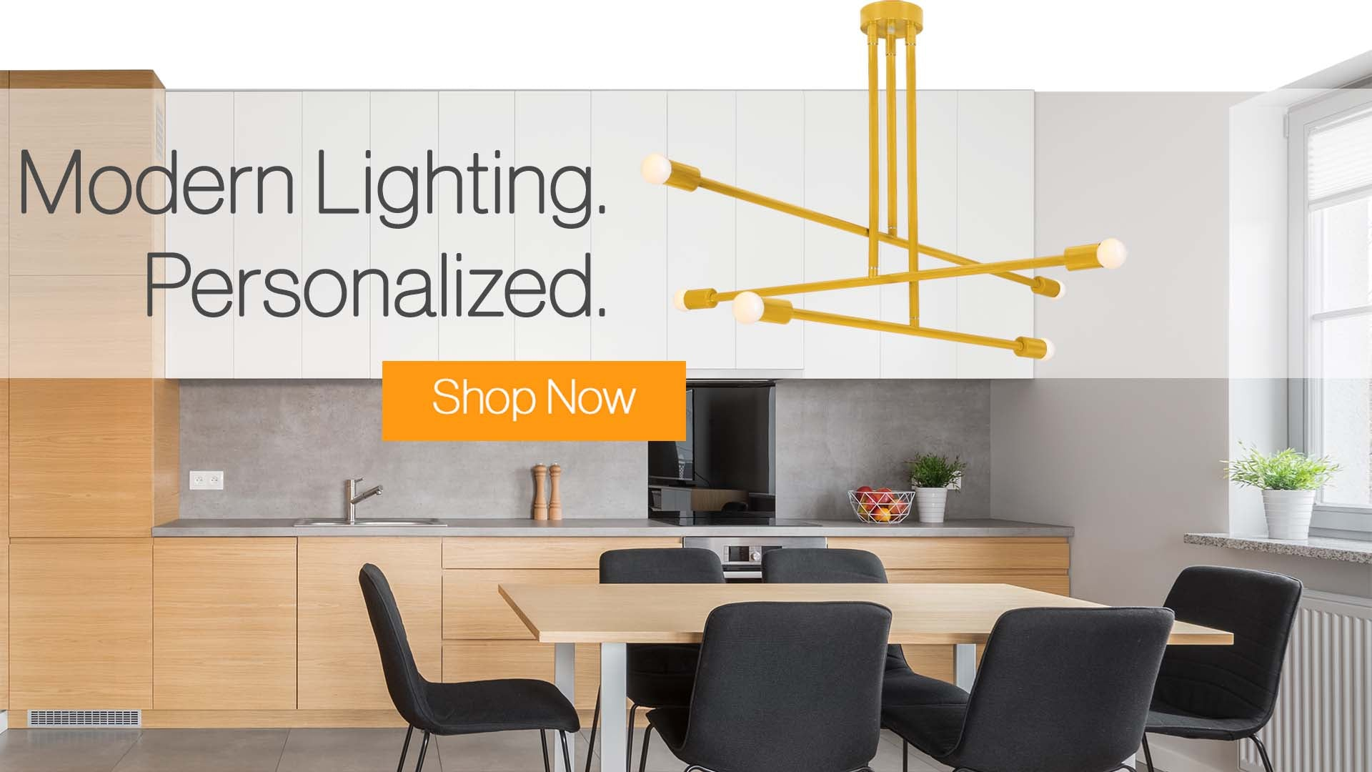 Modern Lighting Personalized Dutton Brown Commander Chandelier Ochre Banner Image