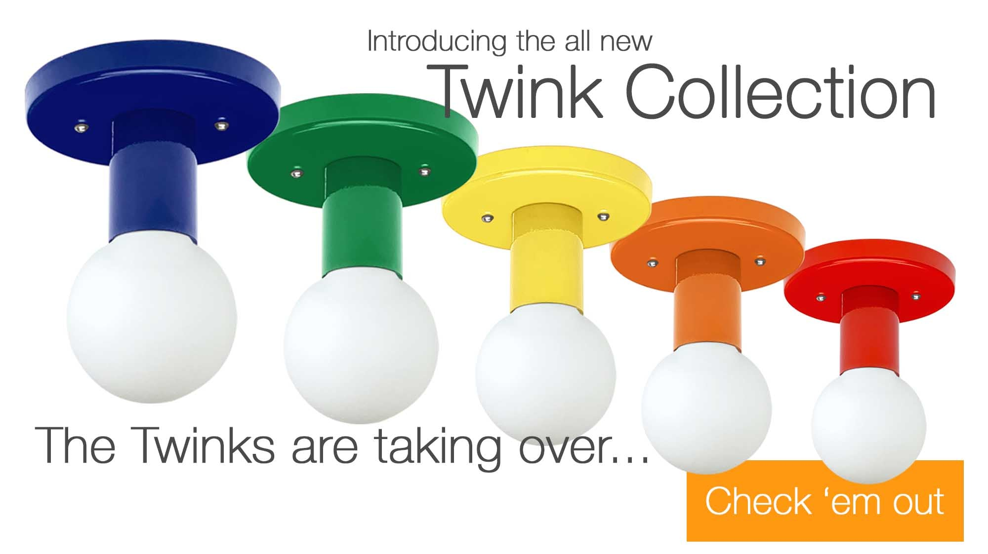 Colorful Lighting Twink Light Fixtures by Dutton Brown