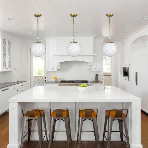 Dutton Browns Globe Pendant Lights Can Be Customized For You - Pendant lighting in kitchen photos