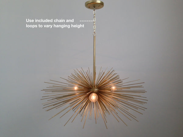 how to hang beaded urchin chandelier hanging rod chain ceiling light