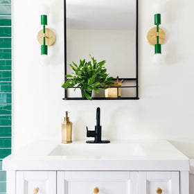 kelly green scepter sconce bathroom vanity lighting by dutton brown. space by the rath project. _hover