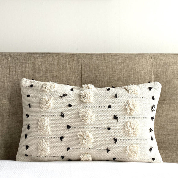 "Threaded Swedish Tuft Pillow Cover - 12"" x 20"""