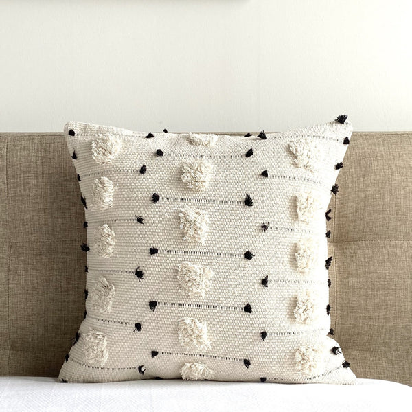 "Threaded Swedish Tuft Pillow Cover - 18"" x 18"""