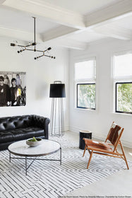 black brass acrylic branch chandelier lighting by Dutton Brown. Space by Room Secret. Photo by Amanda Villanueva. _hover