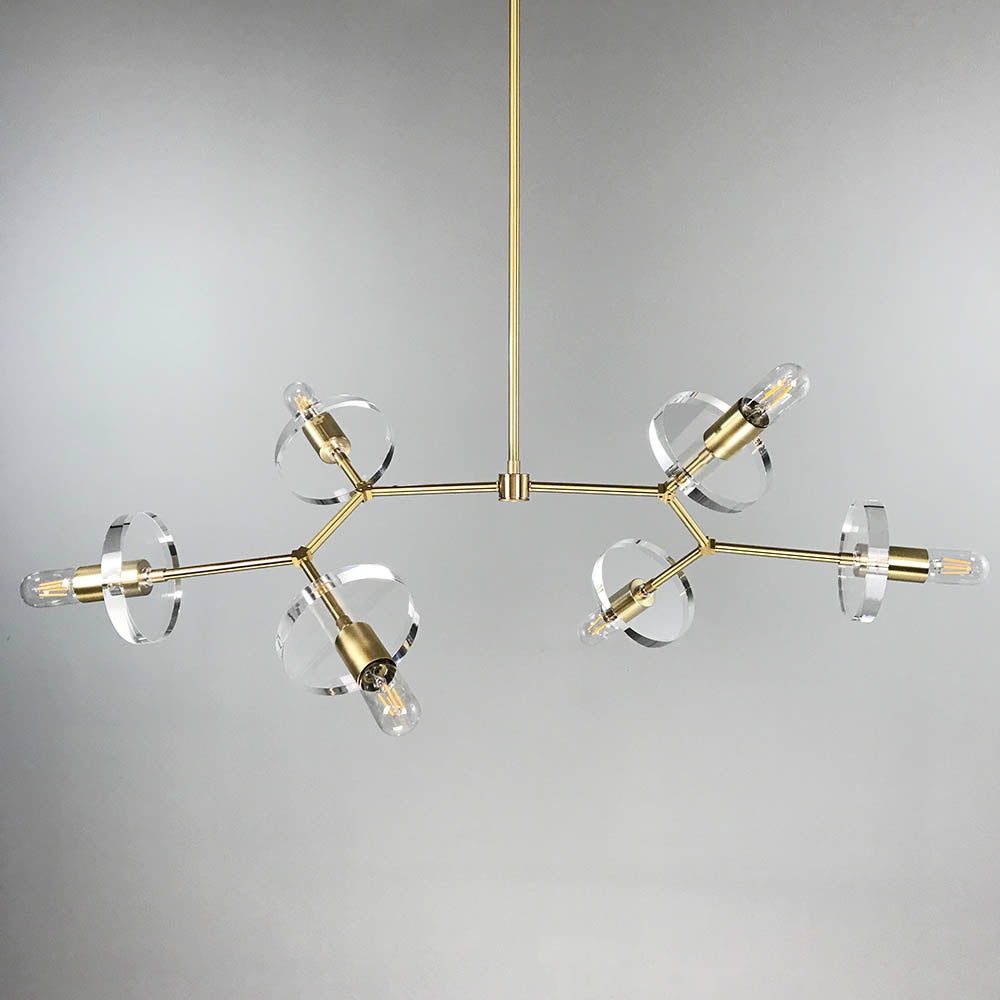 Acrylic branch chandelier 42 brass acrylic branch chandelier aloadofball Images