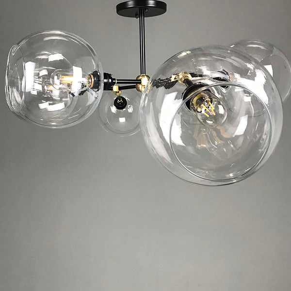 _hover black brass addison globe flush mount ceiling lighting