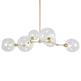 brass addison globe chandelier lighting
