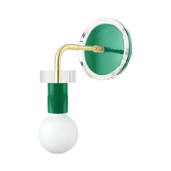 brass kelly green acrylic adore wall sconce dutton brown design lighting