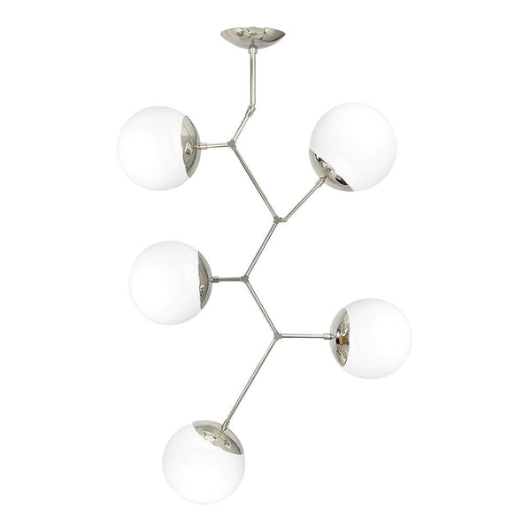 Nickel Astar 5 Globe Chandelier Modern Lighting by Dutton Brown