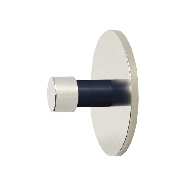 nickel and navy  bae knob dutton brown cabinet hardware