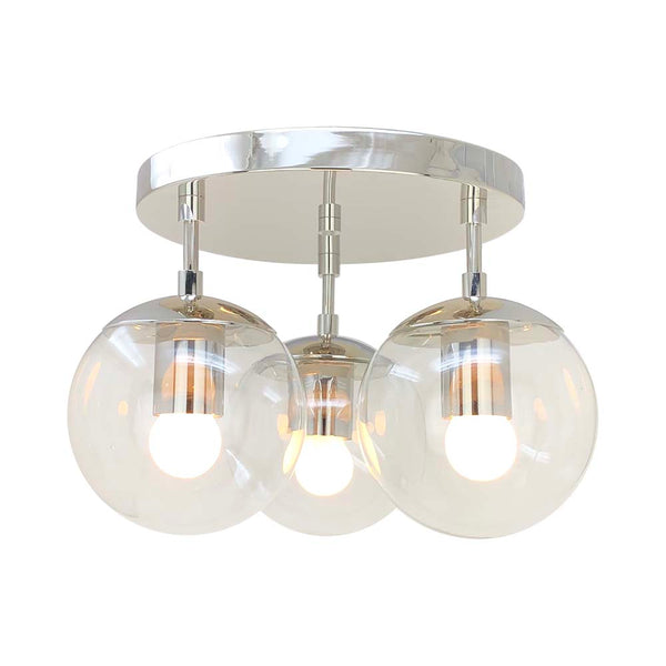 nickel capsy globe flush mount lighting by dutton brown