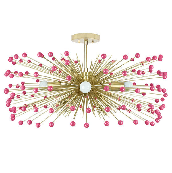 Color Beaded Urchin Flush Mount 31""