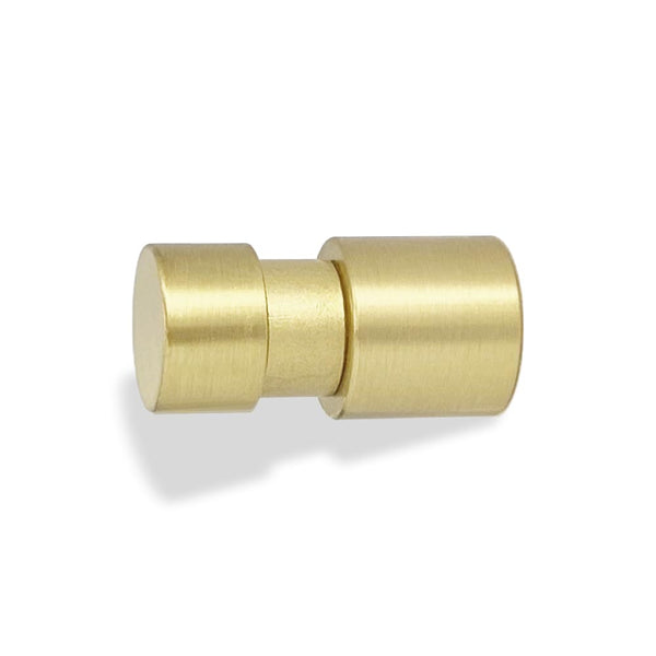 beau knob hardware satin brass by Dutton Brown.