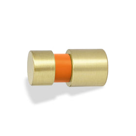 brass and orange beau knob dutton brown hardware