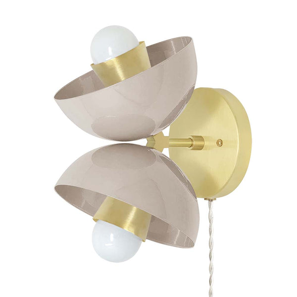 brass blush beso plug-in wall sconce dutton brown lighting