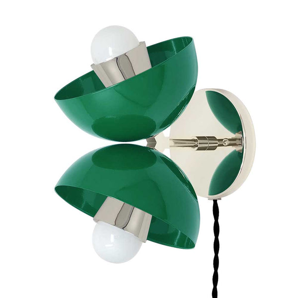 nickel kelly green beso plug-in wall sconce dutton brown lighting _hover