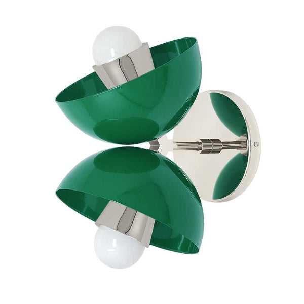 nickel and kelly green beso dome wall sconce dutton brown lighting
