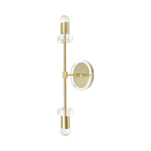 wall lights mid century modern bianca sconce 20 inch brass finish acrylic light fixture