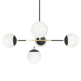 black brass big prisma globe chandelier lighting geometric decor by dutton brown