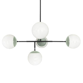 "black spa big prisma globe chandelier 42"" dutton brown lighting"