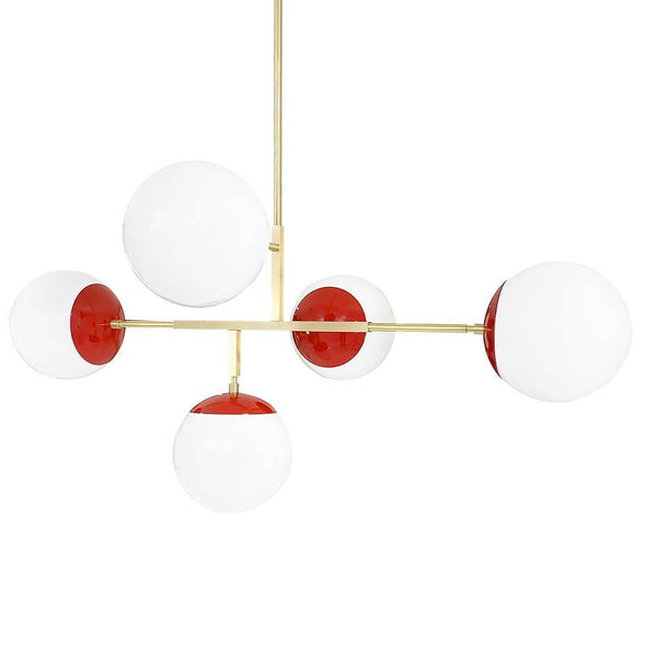 red brass big prisma globe geometric chandelier dutton brown lighting _hover