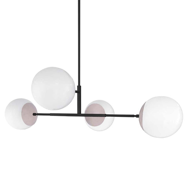black and barely big status globe chandelier dutton brown lighting