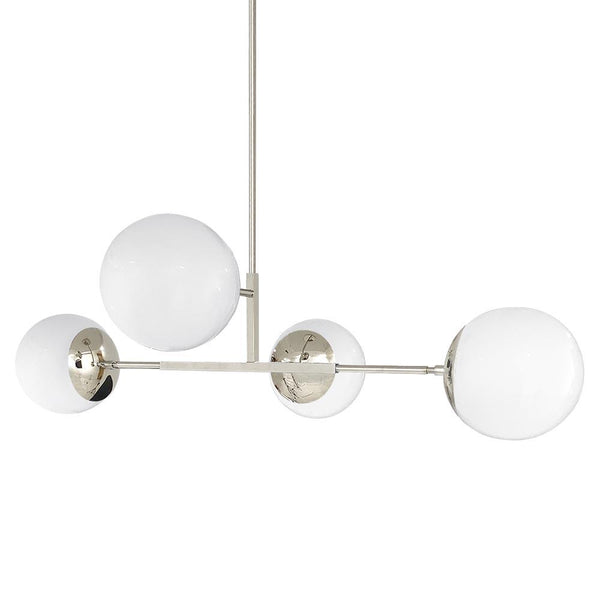 "nickel big status globe chandelier 42"" lighting by Dutton Brown"