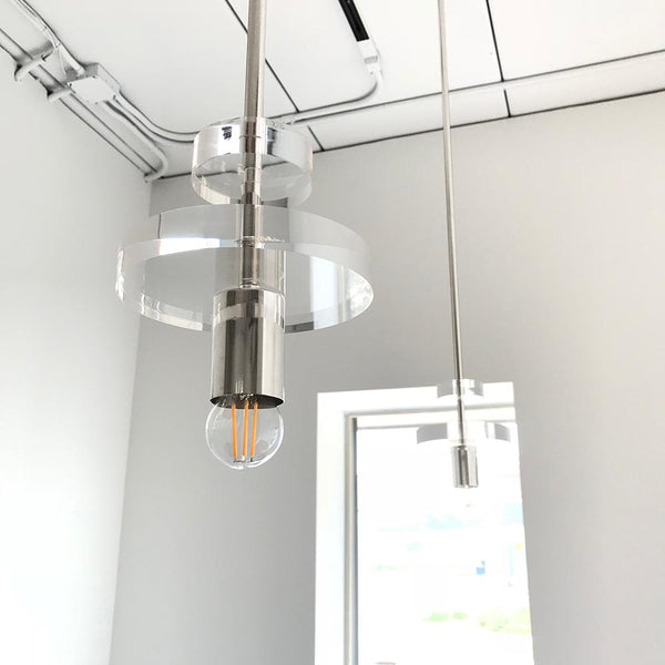 nickel bling acrylic pendant lighting dutton brown