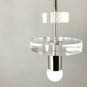 nickel bling ring acrylic flush mount _hover