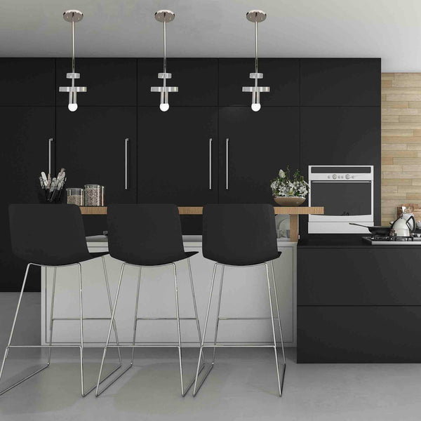 _hover black modern kitchen bling ring acrylic pendant island lighting nickel