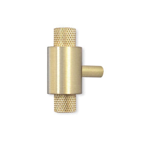 brass bomb t knob dutton brown hardware