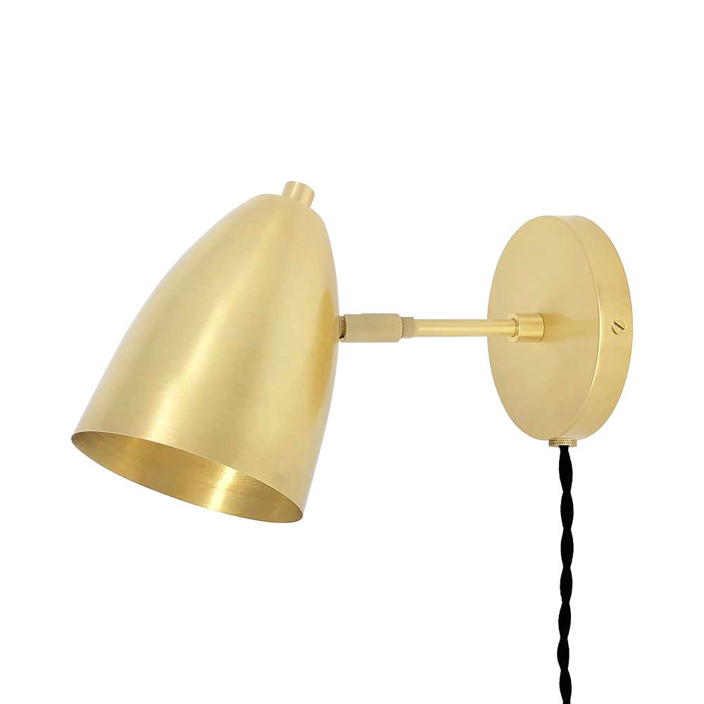 brass boom adjustable plug-in sconce lighting by dutton brown