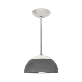 Nickel charcoal cadbury dome kitchen island pendant 10'' dutton brown lighting