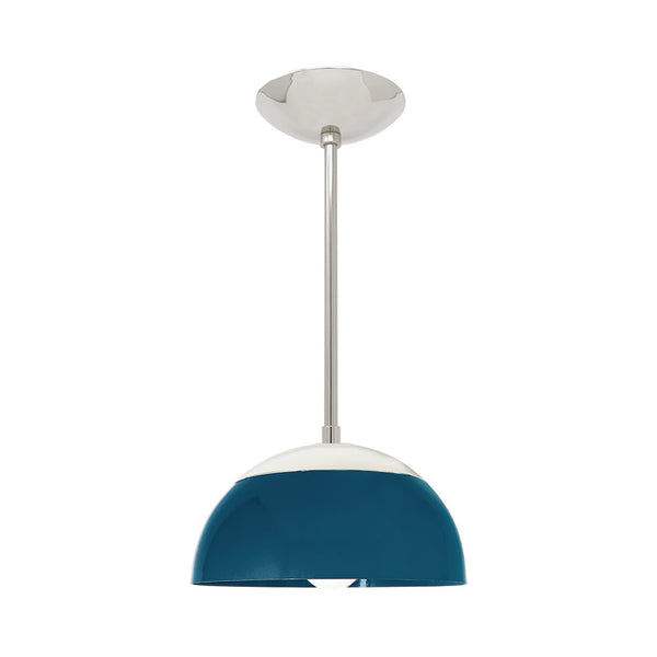 nickel slate blue cadbury dome kitchen island pendant 10'' dutton brown lighting