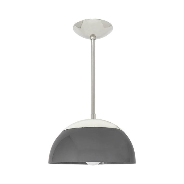 nickel chalk cadbury dome pendant 12 inch dutton brown lighting