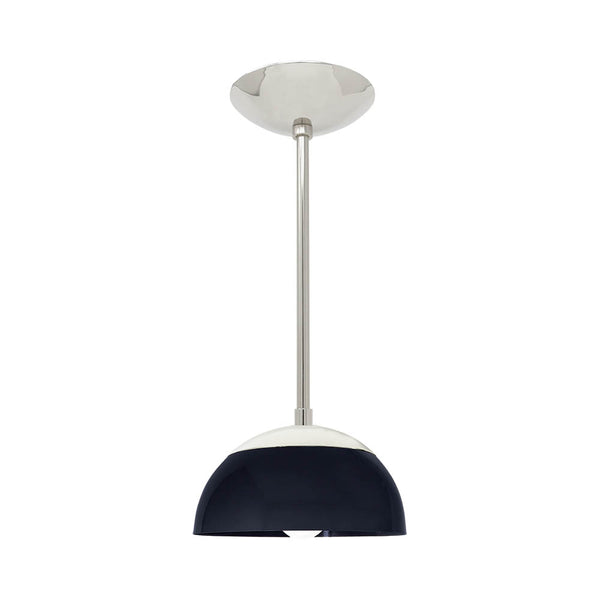 "nickel navy cadbury dome pendant 8"" lighting dutton brown"