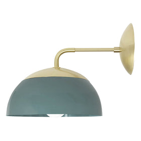 brass lagoon cadbury dome wall sconce 10 inch dutton brown lighting